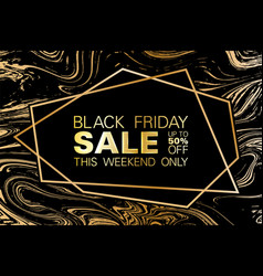 black friday sale up to 50 percent off banner vector image