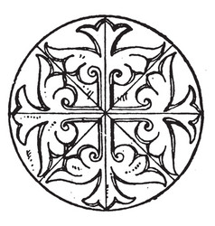 Byzantine circular panel is found in the st sofia vector