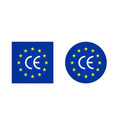 ce europe mark logo for european certificate icon vector image