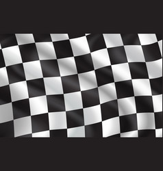 checkered flag pattern background vector image