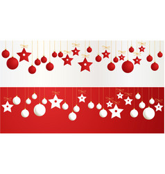 christmas banners with decorations vector image