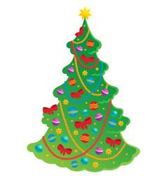 Christmas tree theme 2 vector
