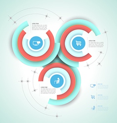 Circle group template vector image
