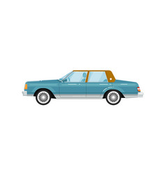 Classic retro sedan isolated vector