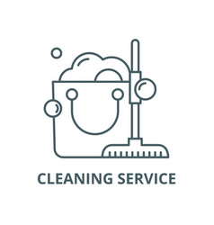 cleaning service line icon cleaning vector image