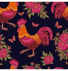 cock pattern dark vector image