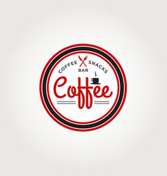 coffee snack bar logo symbol vector image