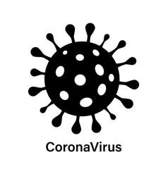 Coronavirus icon or logo epidemic disease vector