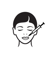 Cosmetic injections icon vector