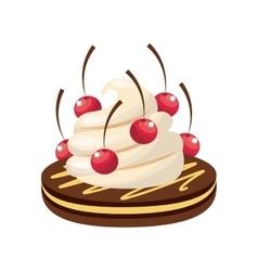 Delicious sweet dessert icon vector
