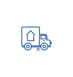 delivery truck line icon concept delivery truck vector image
