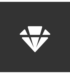 Diamond logo on black background icon vector