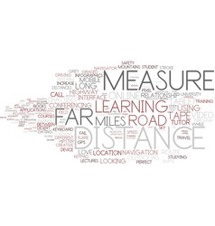 Distance word cloud concept vector
