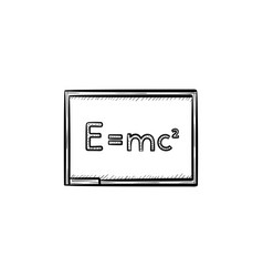 E equal mc 2 hand drawn sketch icon vector