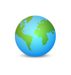 earth globe planet vector image
