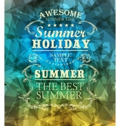 elements for Summer Holidays vector image