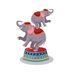 Elephant of circus and carnival design vector