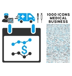 Financial Charts Calendar Day Icon With 1000 vector