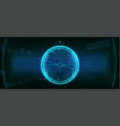 Gadget hud futuristic user element vector