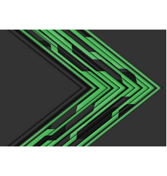 Green circuit line arrow direction on grey vector