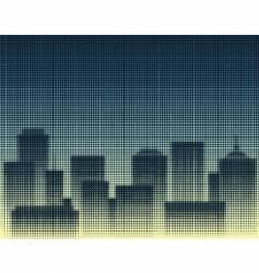 halftone city vector image