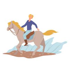 Horse racing professional jockey training vector