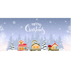 house winter background vector image
