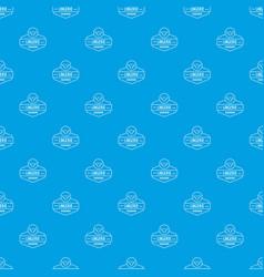 Lingerie female pattern seamless blue vector