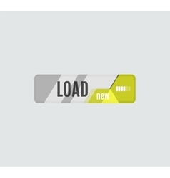 Load button futuristic hi-tech UI design vector