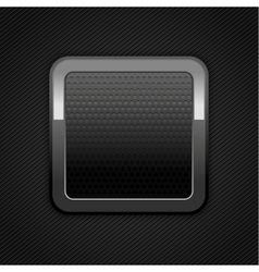 Metal web button vector