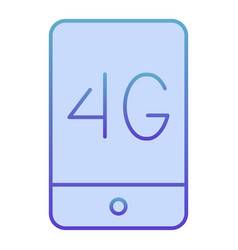 mobile phone with 4g flat icon 4g smartphone blue vector image