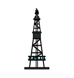 Natural gas industry icon image vector