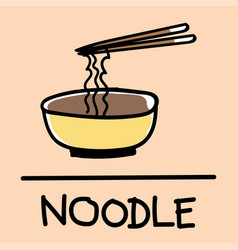 Noodle hand-drawn style vector