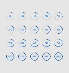 pie charts circle percentage diagrams loading vector image
