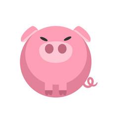 Pig flat vector