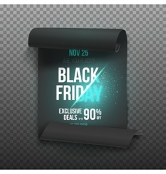 Realistic Black Friday Sale Curved Ribbon Banner vector image