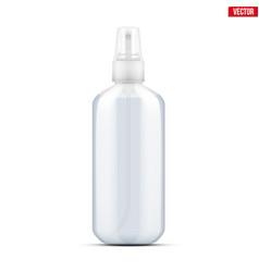Sanitizer bottle spray vector