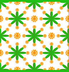 Seamless geometric pattern flowers bright vector