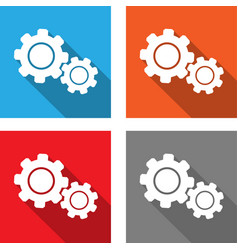 Settings - flat style icon vector