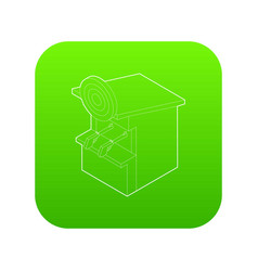 shooting gallery icon green vector image