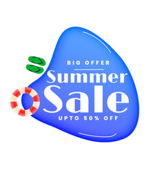 stylish summer sale swimming pool banner vector image