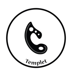 Tailor templet icon vector