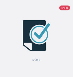 Two color done icon from productivity concept vector