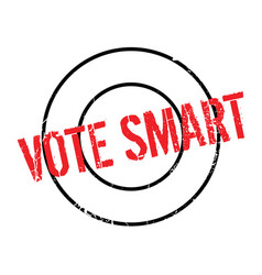 vote smart rubber stamp vector image