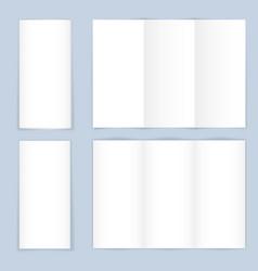 blank trifold paper leaflet vector image