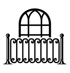 building decor icon simple style vector image vector image