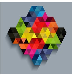 Colorful diamond with triangle texture vector image vector image