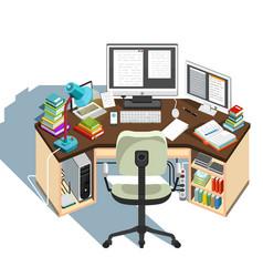 copywriter workplace vector image