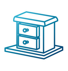 drawer home element vector image vector image