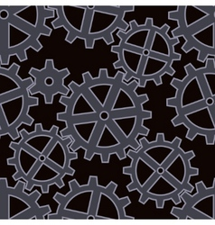 gears seamless background pattern vector image